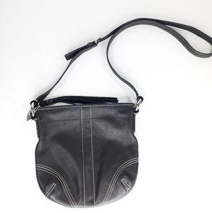 Coach Small Black Leather Crossbody Bag Purse